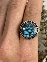 Cloud Mountain Turquoise Orb Ring Size 10