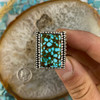 Turquoise Mountain Turquoise Polychrome Bold Ring Size 10 1/4