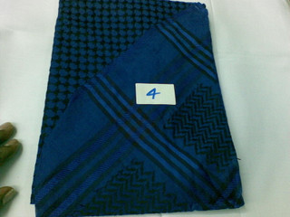 Blue Black Shemagh Scarf