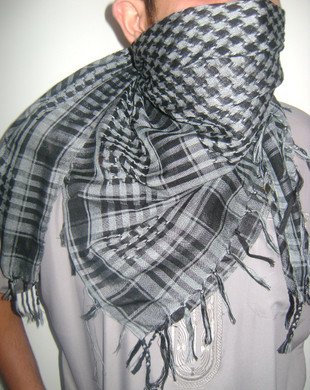 Black & White Palestinian Shemagh Scarf