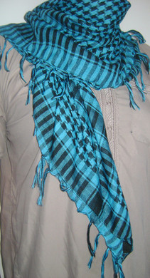 Turquoise Blue Shemagh Scarf