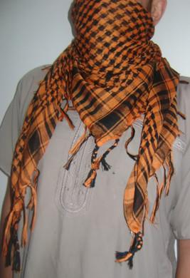 Orange Tango Shemagh Scarf