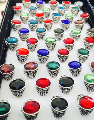 OMAR Arabic Desert Mens Bedouine Stone Ring Eid Black Blue Yemini Red Agate