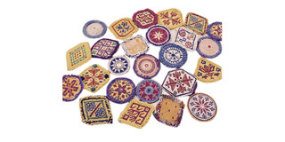 Meduim Kuchi Afghan Tribal Beaded Dress Medallion 40 Wholesale lot Medals Dance