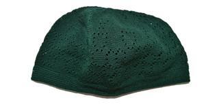 Green Kufi Skull Cap Prayer Turkish Hat Islamic Muslim Beanie Eid Head
