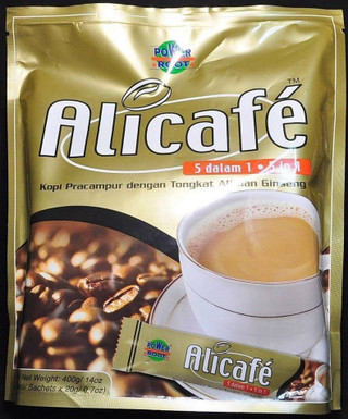 Bag of 20 Coffee Tongkat All Alicafe Ali Cafe Power Root  Sachets