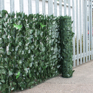2.0m * 3m Camouflage Green Screen Artificial Ivy Leaf Hedge Privacy Screening Garden Fence Panel Roll Box