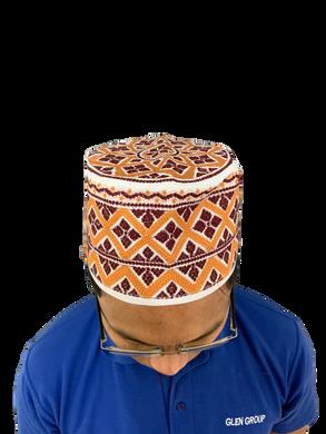 MAROON Omani African Hat Malay Embroidery Kuma Songkok Zanzibar Oman Mens Eid