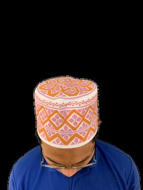 Pink Omani African Hat Malay Embroidery Kuma Songkok Zanzibar Oman Mens Eid