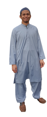 Afghan Men 2 Pcs Set Dress Salwar Kameez Afghani Pakistan Pakistani India Thobes