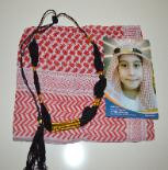 Childs Kids Boys Shemagh Scarf and Igal Set Pack Set Red and White Arab Eid Gift