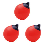 "Polyform A-6 Buoy 34"" Case Pack of 3 red buoys"