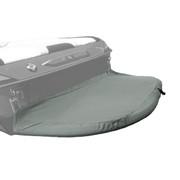 Carver swim platform cover with haze-gray double duck canvas