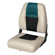 "Wise Blast-Off 17"" High Back boat seat in Mushroom/Black/Green"