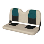 "Wise Blast-Off 42"" Folding Bench seat in Mushroom/Black/Green"
