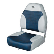 Wise Mid Back Fishing Boat seat in Grey/Navy