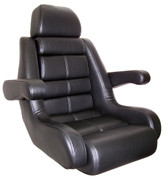 Todd 5 Star Helm Seat with Flip-Up Bolster in Black U9705BK-FB