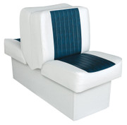 Wise Standard Back-to-Back Boat Seat in White/Navy WD707P
