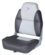 Wise Lund High Back Folding Fishing Boat Seat in Grey/Charcoal WD640PLS