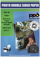 PPD Inkjet Brochure Paper Double Sided Smooth 35lb. 130gsm 6.3mil 8.5 x 11""