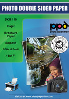 PPD Inkjet Brochure Paper Double Sided Smooth Matte Finish 35lb. 130gsm 6.3mil 11 x 17""