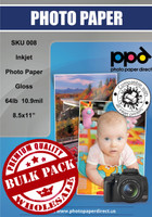 "PPD Inkjet Heavyweight Photo Paper Glossy 64lb. 240gsm 10.9mil 8.5 x 11"" Bulk Wholesale Pack"