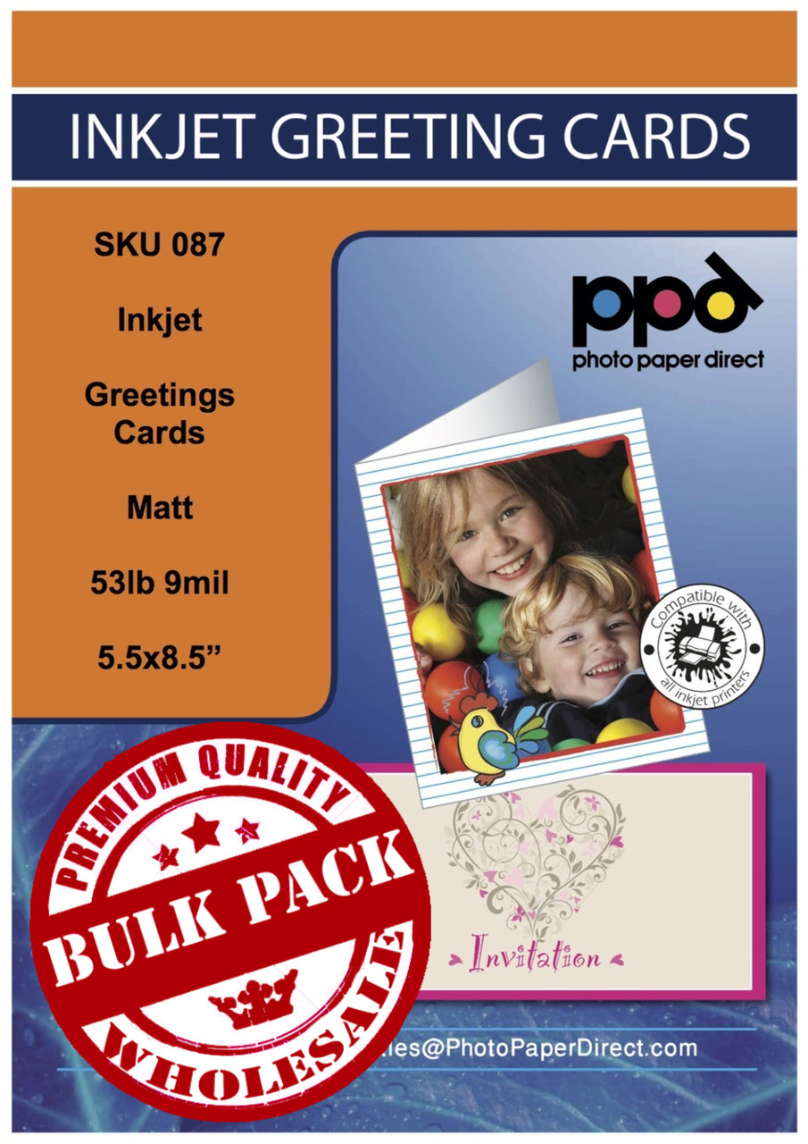 PPD Inkjet Printable Greeting Cards Matt 53lb 210gsm 9mil 55 X 85