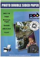 PPD Inkjet Brochure Paper Double Sided Smooth Matte Finish 35lb. 130gsm 6.3mil 11 x 14""