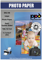 "PPD Inkjet Premium Photo Paper Pearl Double Sided 70lb. 290gsm 10.7mil 11.7 x 16.5"" (A3)"