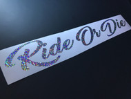 Ride Or Die Silver Glitter Exclusive Banner