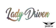Lady Driven Glitter Sticker Decal