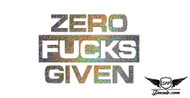 Zero F*cks Given Glitter Sticker Decal