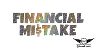 Financial Mistake Glitter Sticker Decal
