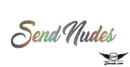 Send Nudes Glitter Sticker Decal