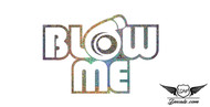 Blow Me Glitter Sticker Decal