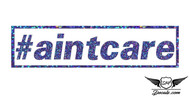 #aintcare Blue Glitter Sticker Decal