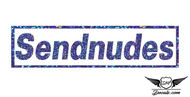 Sendnudes Blue Glitter Sticker Decal