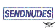 Sendnudes 2 Blue Glitter Sticker Decal