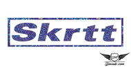 Skrrt Blue Glitter Sticker Decal
