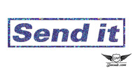 Send it Blue Glitter Sticker Decal