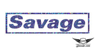 Savage Blue Glitter Sticker Decal