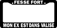 Fesse Fort License Plate Frame