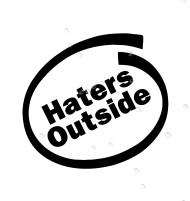 Haters Outside Sticker Decal