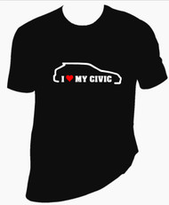 I Love My Civic T Shirt