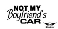 Not My Boyfriend's Car Sticker Decal