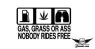 Grass Ass Or Gas Drift Sticker Decal