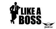 Like A Boss 2 Sticker Decal