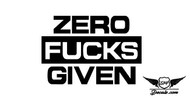 Zero F*cks Given Sticker Decal