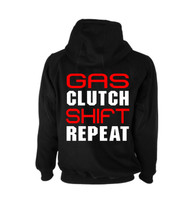 Gas Clutch Shift Repeat Hoodie (Back)