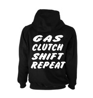 Gas Clutch Shift Repeat Tuner Hoodie (Back)